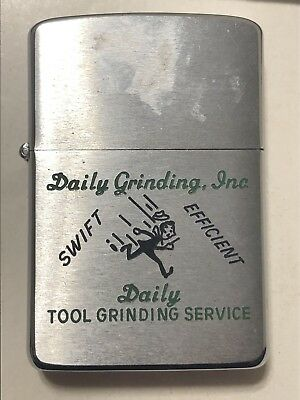 Daily Tool Grinding Inc. Name Enscribed Eugeue F. Vintage Advertising Zippo 1959