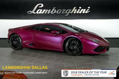 2016 Lamborghini Huracan LP610-4  FACTORY CERTIFIED!+NAV+RR CAM+PWR/HEATED SEATS+LIFT SYS+REAR CAM