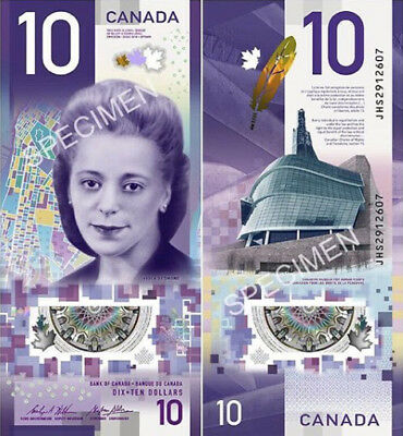 SALE vertical canada bank note 2018 $10 Dollars Polymer Choice UNC or Better