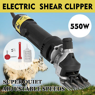 550W Black Electric Shearing Clippers Shears 5M Cable  Goat  Compact Trimmer