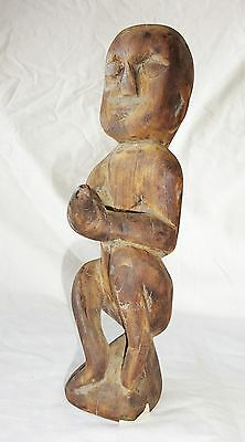 20CT Laotian Wooden Carved Tribal Ancestral Figure (Eic)