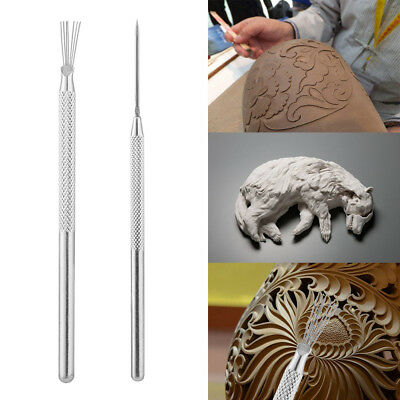 Sculpture Polymer Needle Detail Tool Pottery Carving Clay Modeling Ceramics Pin