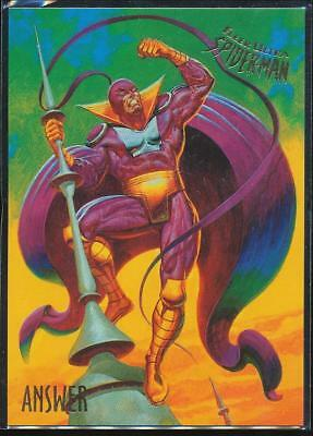 1995 Fleer Ultra Spider-Man Premiere Trading Card #3 Answer