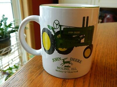 """John Deere Tractor Cup Coffee Mug Licensed Product Model """"A"""" Moline Illinois"""