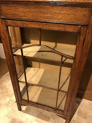 Antique Wooden Glass Display Cabinet