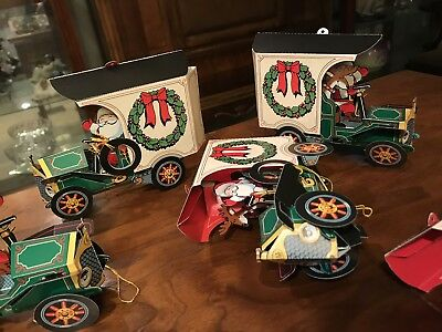 Vintage HESS POP UP CHRISTMAS CARD TOY TRUCKS ORNAMENT COLLECTIBLES Lot Of 5+