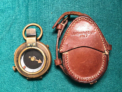 WW1 1917 Verner's Pattern Brass Compass Stamped Verso 79055 with Broad Arrow
