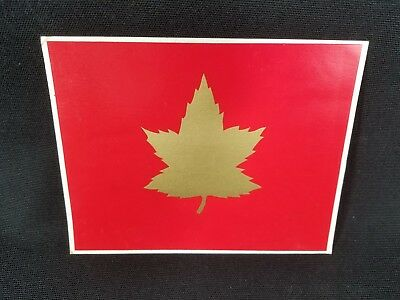 Vintage ORIGINAL 1 Canadian Infantry Division Jeep Vehicle Decal Army Canada War