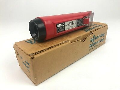 Drug Refractometer Vintage Misco Hand Held Automatically Temperature Compensated