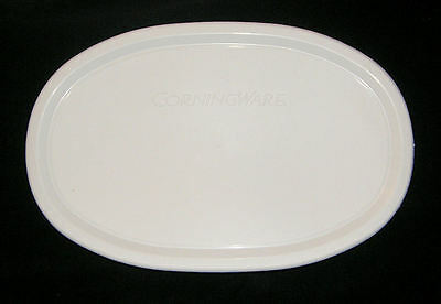 NEW Corning Ware French White Lid F-23-PC Fit 23 Oz Oval Dish White Plastic Lid