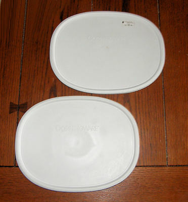 2 NEW Corning Ware French White Oval Lid Storage Cover F-12-PC for 1.5 Qt / 1.5L