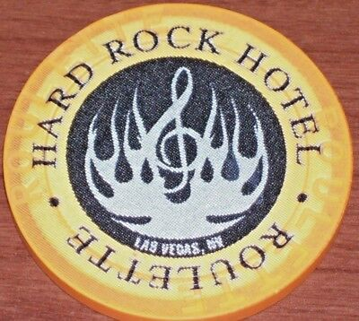 2Nd Edt Roulette Chip (O) From The Hard Rock Casino Las Vegas