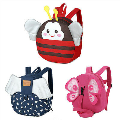 Safety Harness Strap Baby Kid Toddler Walking Cosplay Backpack Reins Cute Bag