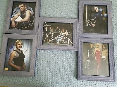 Battlestar galactica autographed pictures