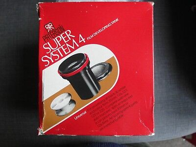 Paterson System 4 developing tank 35mm 120 roll film NEW