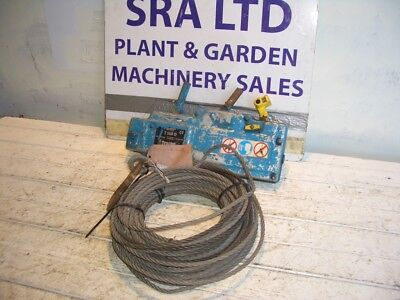 Tirfor T508 800Kg Wire Rope Winch + Approx 20M Wire Winch Rope Vat Inc Sra 2