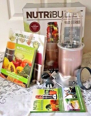 Nutribullet Pro 900 Series Extractor Magic Bullet Pink, Recipe Books & Manual