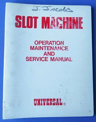 Universal Slot Machine Operation Maintenance & Service Manual Binder
