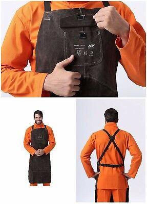 Welding Apron Premium Leather GEAR Protect Clothing Carpenter Blacksmith Garden