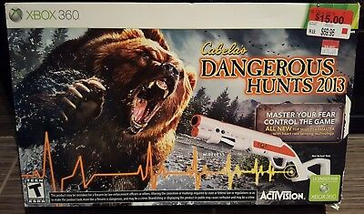 Cabela's Dangerous Hunts 2013 with Top Shot Fearmaster Gun Sealed Box Xbox 360