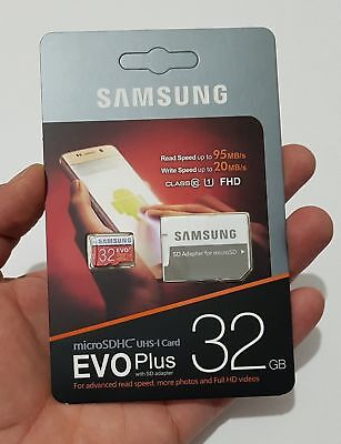 Flash memory Card Samsung EVO 32GB Class 10 95MB/s Micro SD Card