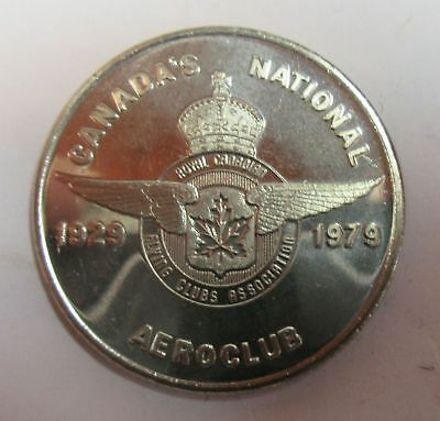 Canada's National Aeroclub 1929-19279 - Royal Canadian Flying Clubs Assoc. Token