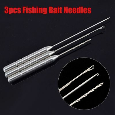 Steel Tackle Tool Kit Combo Set Baiting Fishing Bait Needle Rigging Drill Hook