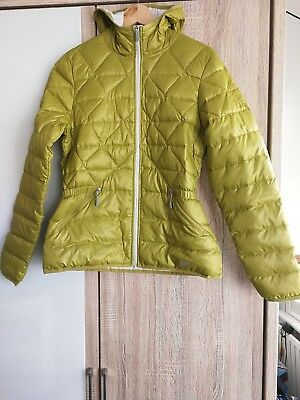 Ladies fitted Nike Quilted Duck Down Jacket 550, Mustard yellow/Green - Size: M