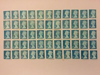 55 unfranked off paper 2nd class security stamps no gum