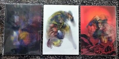 Complete set of 3 1996 X-men Wolverine Mirage / Morph/ Motion cards - Marvel