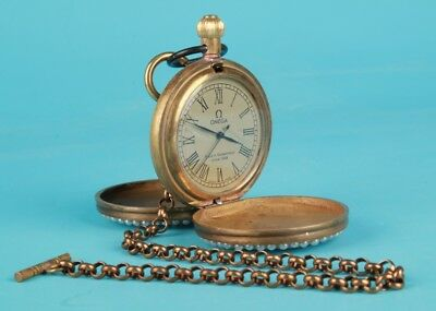 Vintage Chinese Bronze Pocket Watch Figurines Mechanized Decorative Gifts Noble
