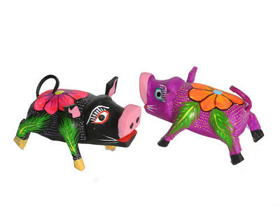 PIGS by the PAIR - Whimsical, Hand-crafted Oaxacan Wood Carving Alebrijes