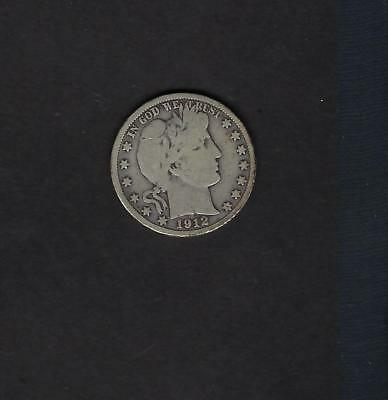 US 1912-D Barber Half Dollar Silver Coin in VG Very Good Condition