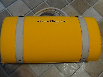 Veuve Clicquot Traveller Yellow Champagne Carry Case Bottle Tote Insulated