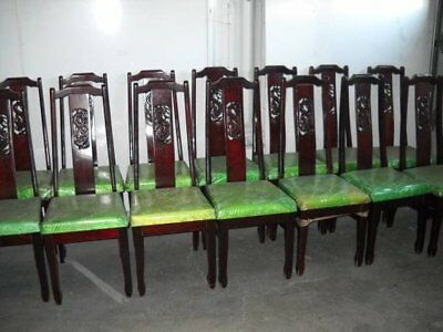 Vintage Chinese Rosewood Dragon Dining Chairs Asian Dragon Motif (22 available)