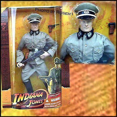 "New Indiana Jones GERMAN OFFICER 12"" Action Figure Last Crusade 2008"