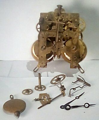Antique New Haven Mantle Clock Movement - Time and Strike