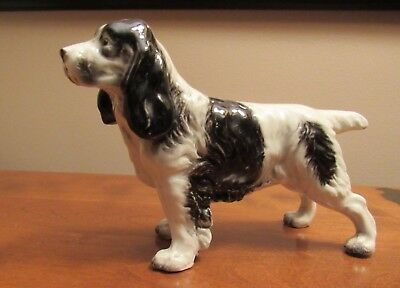 Vintage Japan Porcelain  English Springer Spaniel Dog Figurine