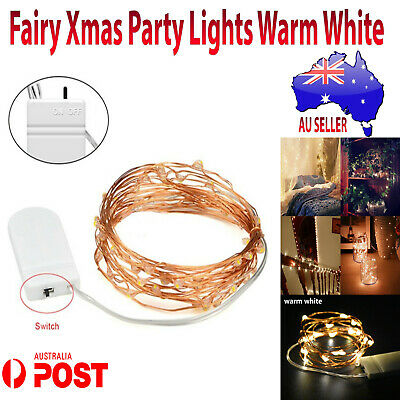 New Fairy Christmas Light Party Battery Powered Copper Wire String 2m warm white