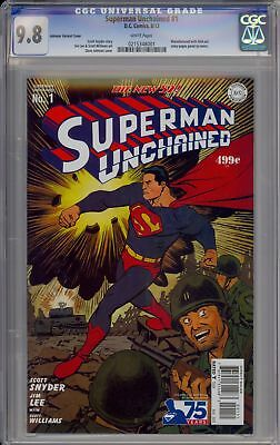 Superman Unchained 1 Dave Johnson Variant Cover Cgc 9.8