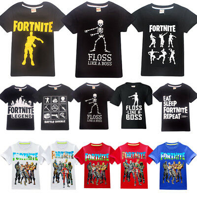 Kids Fortnite Battle Fortnight Floss Dance T-shirt Boy Summer T Shirt Tops New