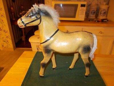 Late 1800S Early 1900S Made In Germany Large Sized Papier Mache Horse No Base