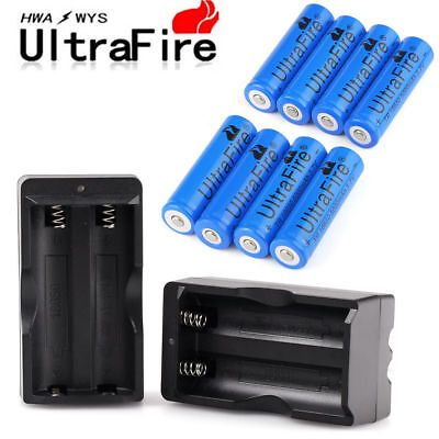 Lot Ultrafire18650 Battery 3000mAh Li-ion 3.7V Rechargeable Batteries for Torch