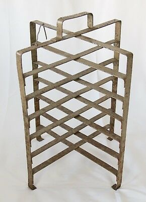Antique French Bakery Cast Iron Pie Stand Plate Rack