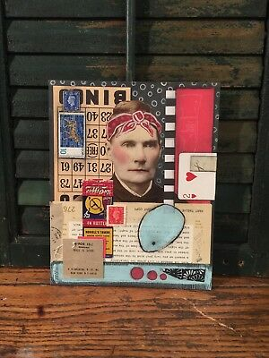 Original Mixed media collage art by Jenny Elkins