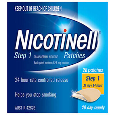 NEW Nicotinell Patches 21mg Step 1 28 Pack