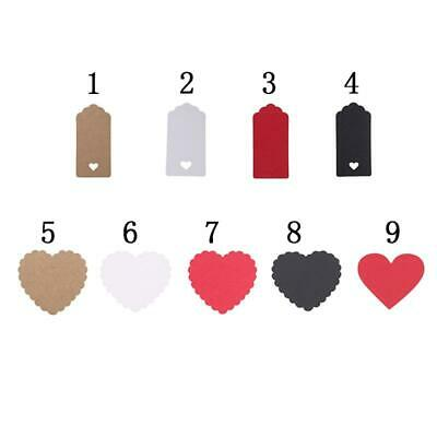 ed55bcc718b2 100PCS HOLLOW Heart Price Hang Tag Label Luggage TagsKraft Paper ...