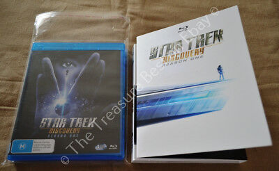 Star Trek Discovery Season one 1 First 1st 4 Disc Blu Ray Slip Cover Set New