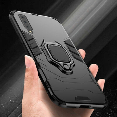 For Samsung Galaxy A7 2018 A9 S8 S9 Magnetic Ring Stand Holder Armor Case Cover
