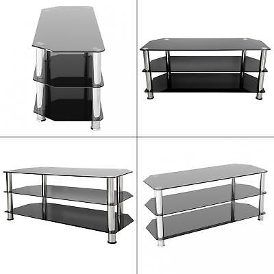 Avf Black And Chrome Tv Stand For Tv S Up To 55 Sdc1140 Eur 125